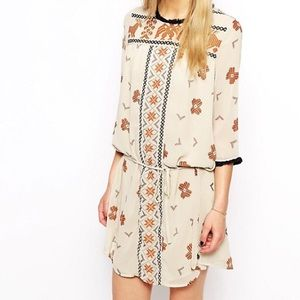 Maison Scotch Aztec Fringe Dress